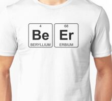 Be Er - Beer - Periodic Table - Chemistry - Chest Unisex T-Shirt