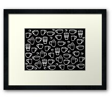 coffee coffee coffee (inverted) Framed Print