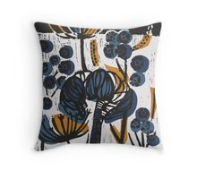 Natural Form Relief Print Throw Pillow