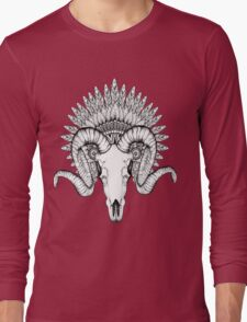 Goat Skull Long Sleeve T-Shirt