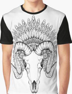 Goat Skull Graphic T-Shirt