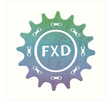 Fixed gear, bike, cycling, bicycle, FXD Art Print