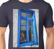 Reflection of a traditional Greek chapel Unisex T-Shirt