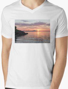 Toronto Skyline - Clearing Clouds at Sunrise Mens V-Neck T-Shirt