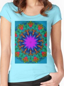 Colours Abstract. Women's Fitted Scoop T-Shirt