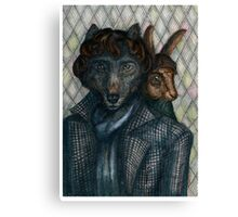 Sherlock Wolf and Dr. Rabbit Canvas Print