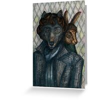 Sherlock Wolf and Dr. Rabbit Greeting Card