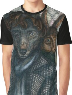 Sherlock Wolf and Dr. Rabbit Graphic T-Shirt