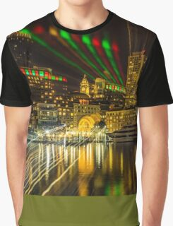 Christmas Light of Boston  Graphic T-Shirt