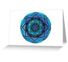 Blue Mandala Pattern 1 Greeting Card