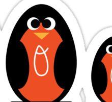 Cute Cartoon Oriole Family Sticker