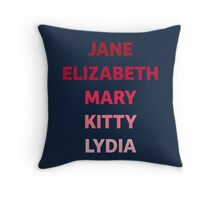 The Bennet Sisters from Pride and Prejudice Throw Pillow