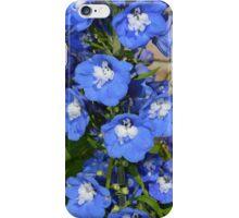Blue delphiniums iPhone Case/Skin