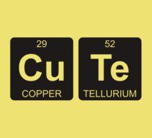 Cu Te - Cute - Periodic Table - Chemistry - Chest Kids Tee
