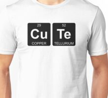 Cu Te - Cute - Periodic Table - Chemistry - Chest Unisex T-Shirt