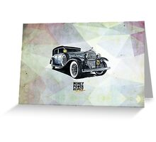 Historic gangster car Greeting Card