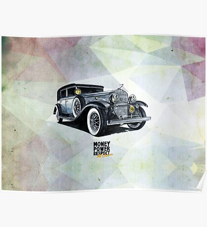 Historic gangster car Poster