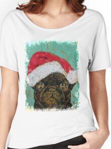 Santa Pug Women's Relaxed Fit T-Shirt