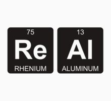 Re Al - Real - Periodic Table - Chemistry - Chest One Piece - Short Sleeve