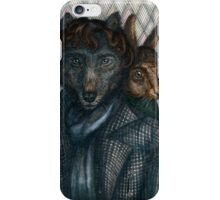 Sherlock Wolf and Dr. Rabbit iPhone Case/Skin