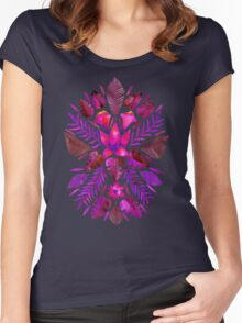 Tropical Symmetry – Magenta Women's Fitted Scoop T-Shirt