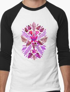 Tropical Symmetry – Magenta Men's Baseball ¾ T-Shirt