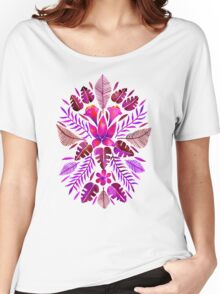 Tropical Symmetry – Magenta Women's Relaxed Fit T-Shirt