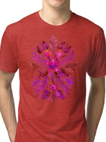 Tropical Symmetry – Magenta Tri-blend T-Shirt