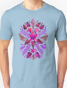 Tropical Symmetry – Magenta Unisex T-Shirt