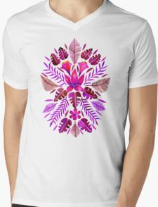 Tropical Symmetry – Magenta Mens V-Neck T-Shirt