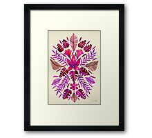 Tropical Symmetry – Magenta Framed Print