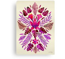 Tropical Symmetry – Magenta Canvas Print