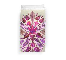 Tropical Symmetry – Magenta Duvet Cover