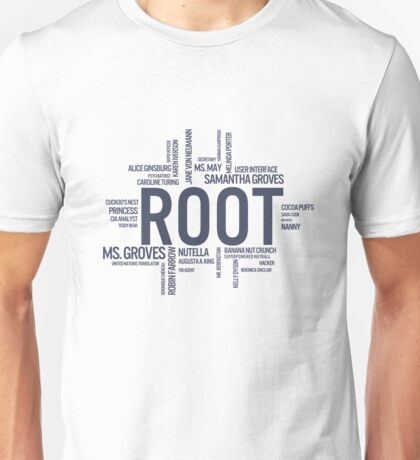 Root Identities - Person Of Interest Unisex T-Shirt