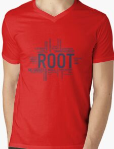 Root Identities - Person Of Interest Mens V-Neck T-Shirt