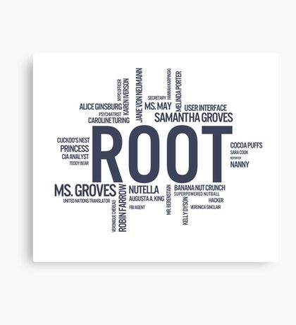 Root Identities - Person Of Interest Canvas Print