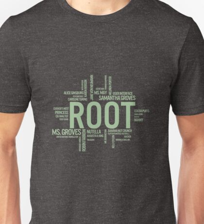 Root Identities - Person Of Interest - Black Unisex T-Shirt