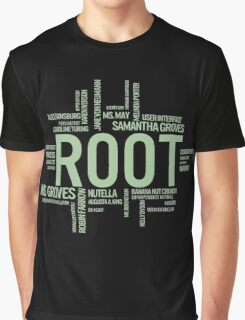 Root Identities - Person Of Interest - Black Graphic T-Shirt