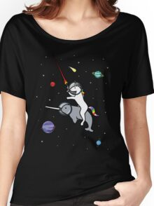 Unicorn Riding Narwhal In Space Women's Relaxed Fit T-Shirt