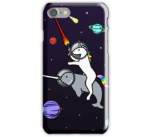 Unicorn Riding Narwhal In Space iPhone Case/Skin