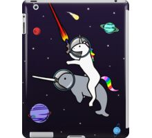 Unicorn Riding Narwhal In Space iPad Case/Skin