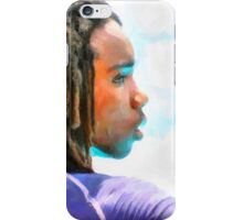 digital portrait iPhone Case/Skin