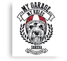 My garage, My rules Canvas Print