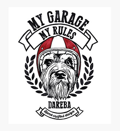 My garage, My rules Photographic Print