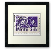 Soviet Space Postage Luna 10, 1966 Framed Print