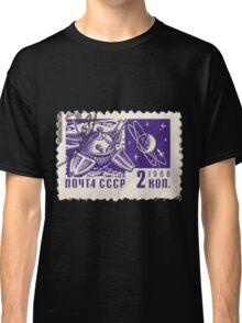 Soviet Space Postage Luna 10, 1966 Classic T-Shirt