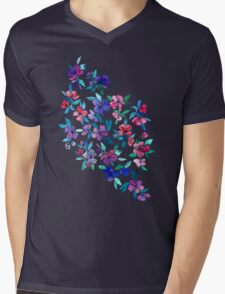 Southern Summer Floral - navy + colors T-Shirt