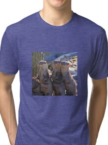 A Bevy of Otters Tri-blend T-Shirt