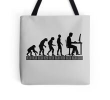 computer evolution Tote Bag