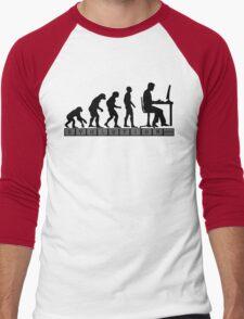 computer evolution Men's Baseball ¾ T-Shirt